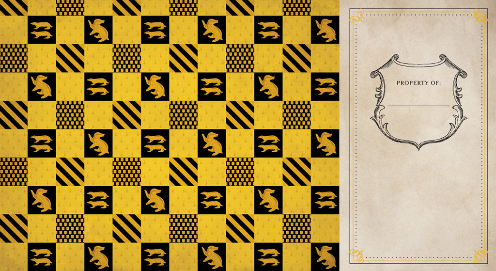 Harry Potter: Hufflepuff Hardcover Ruled Journal
