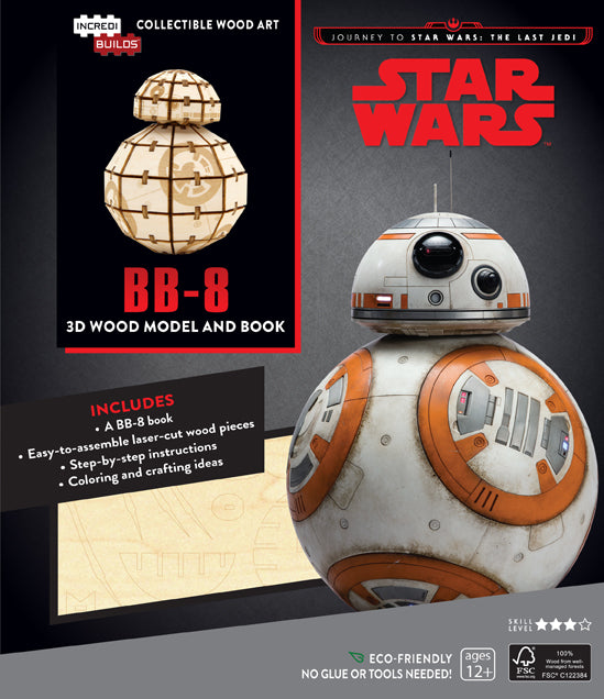 IncrediBuilds: Journey to Star Wars: The Last Jedi: BB-8 3D Wood Model and Book