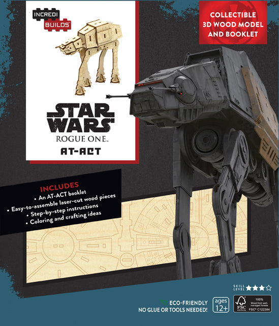 IncrediBuilds: Star Wars: Rogue One: AT-ACT 3D Wood Model and Book