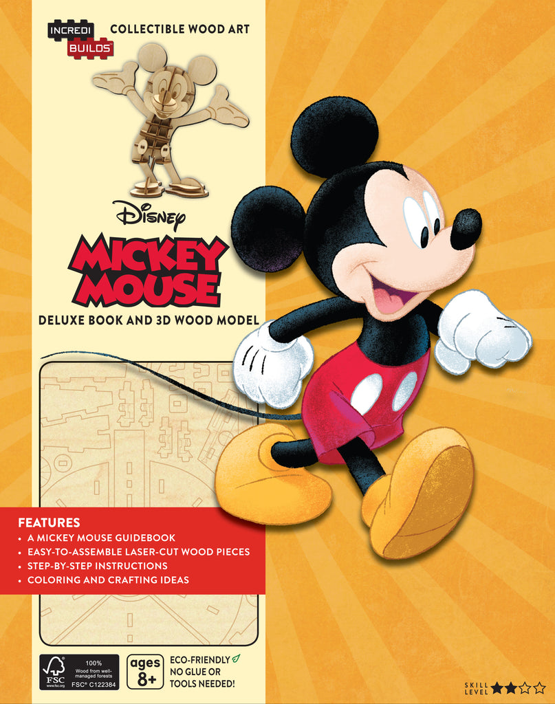 IncrediBuilds: Disney: Mickey Mouse Deluxe Book and Model Set