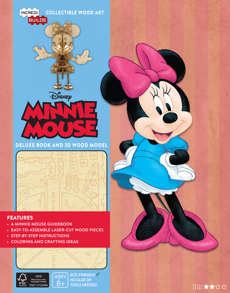 IncrediBuilds: Disney: Minnie Mouse Deluxe Book and Model Set