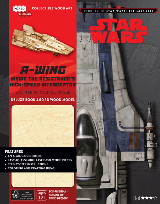 IncrediBuilds: Journey to Star Wars: The Last Jedi: A-wing Deluxe Book and Model Set