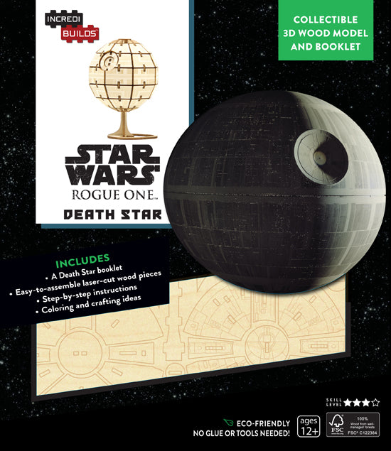 IncrediBuilds: Star Wars: Rogue One: Death Star 3D Wood Model and Book