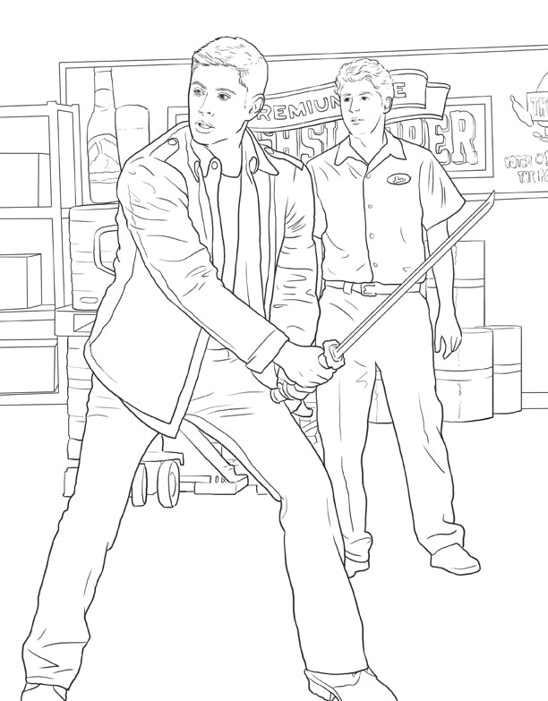The Official Supernatural Coloring Book