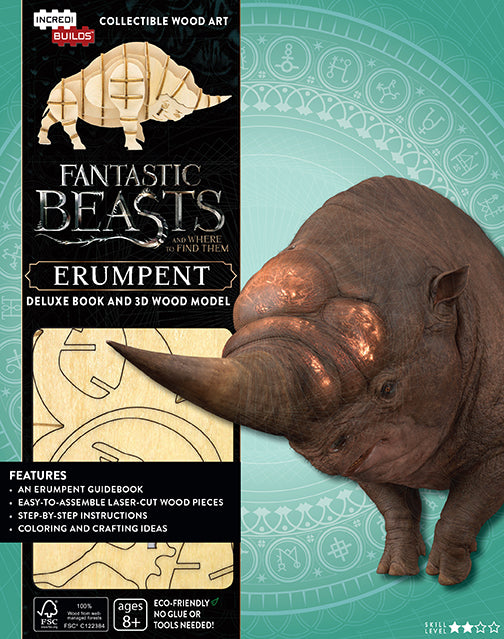 IncrediBuilds: Fantastic Beasts and Where to Find Them: Erumpent Deluxe Book and Model Set