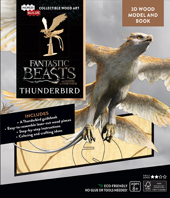 IncrediBuilds: Fantastic Beasts and Where to Find Them: Thunderbird 3D Wood Model and Book