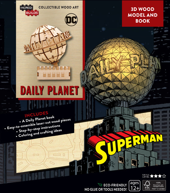 IncrediBuilds: DC Comics: Superman: Daily Planet 3D Wood Model and Book