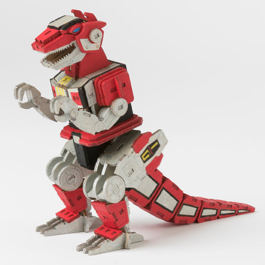 IncrediBuilds: Power Rangers: T-Rex Dinozord 3D Wood Model and Poster