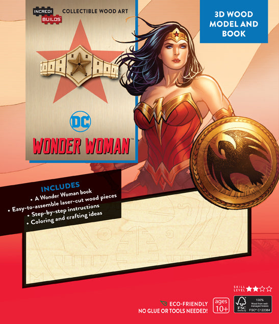IncrediBuilds: DC Comics: Wonder Woman 3D Wood Model and Book