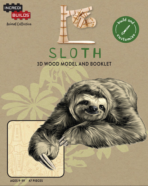 IncrediBuilds Animal Collection: Sloth