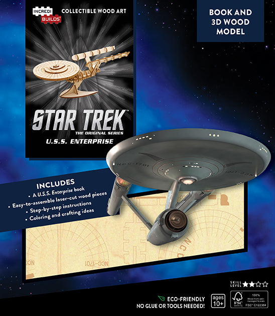 IncrediBuilds: Star Trek: U.S.S. Enterprise Book and 3D Wood Model
