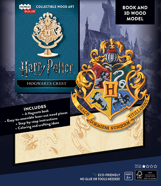 IncrediBuilds: Harry Potter: Hogwarts Crest Book and 3D Wood Model