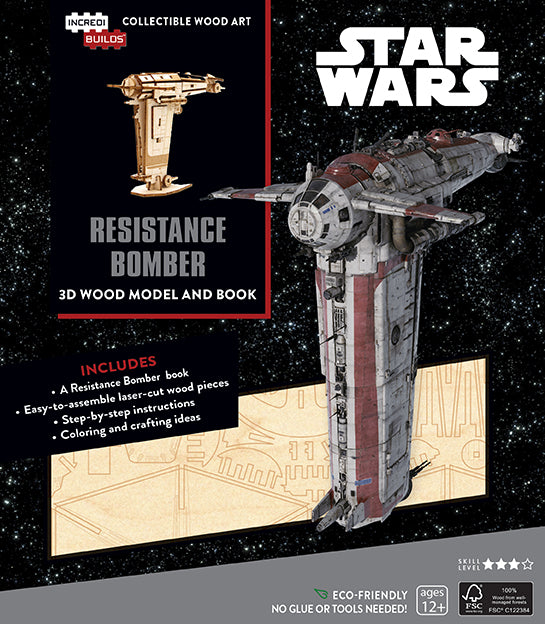 IncrediBuilds: Star Wars: Resistance Bomber Book and 3D Wood Model