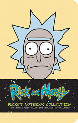 Rick and Morty: Pocket Notebook Collection (Set of 3)