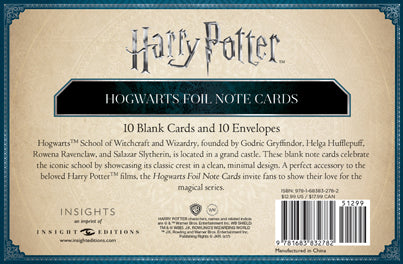 Harry Potter: Hogwarts Foil Note Cards (Set of 10)