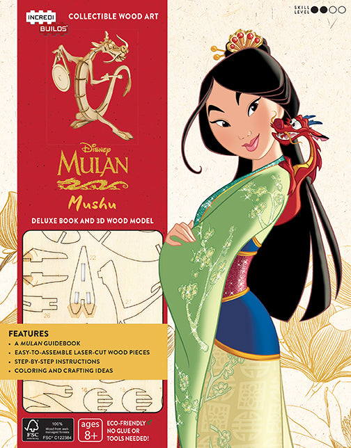 IncrediBuilds: Disney's Mulan: Mushu Deluxe Book and Model Set