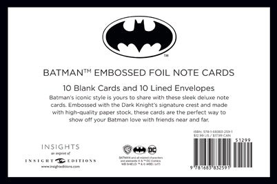 DC Comics: Batman Foil Note Cards (Set of 10)