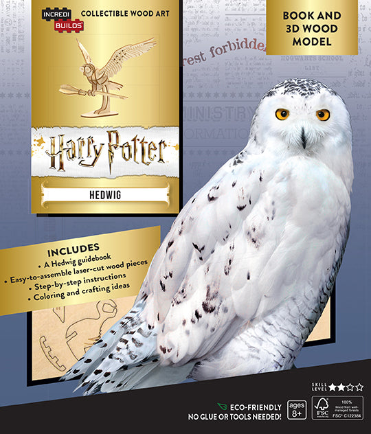 IncrediBuilds: Harry Potter: Hedwig Book and 3D Wood Model