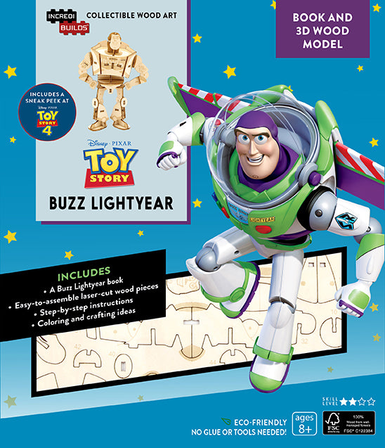 IncrediBuilds: Toy Story: Buzz Lightyear Book and 3D Wood Model