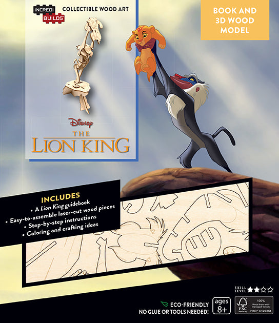IncrediBuilds: Disney's The Lion King Book and 3D Wood Model