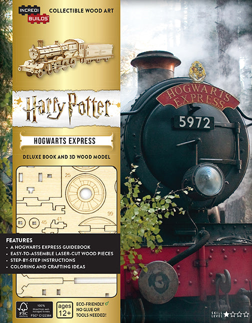 IncrediBuilds: Harry Potter: Hogwarts Express Deluxe Book and Model Set