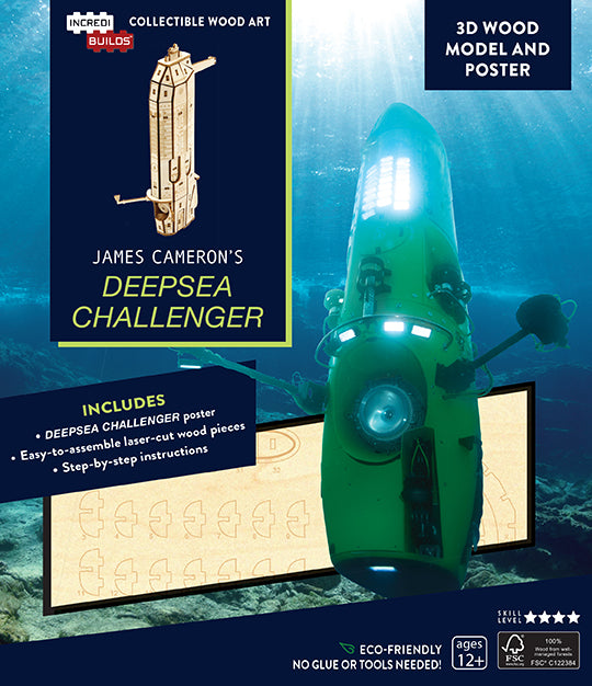 IncrediBuilds: James Cameron's DEEPSEA CHALLENGER 3D Wood Model and Poster