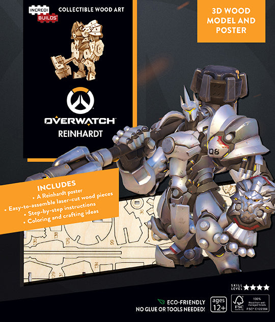 IncrediBuilds: Overwatch: Reinhardt 3D Wood Model and Poster