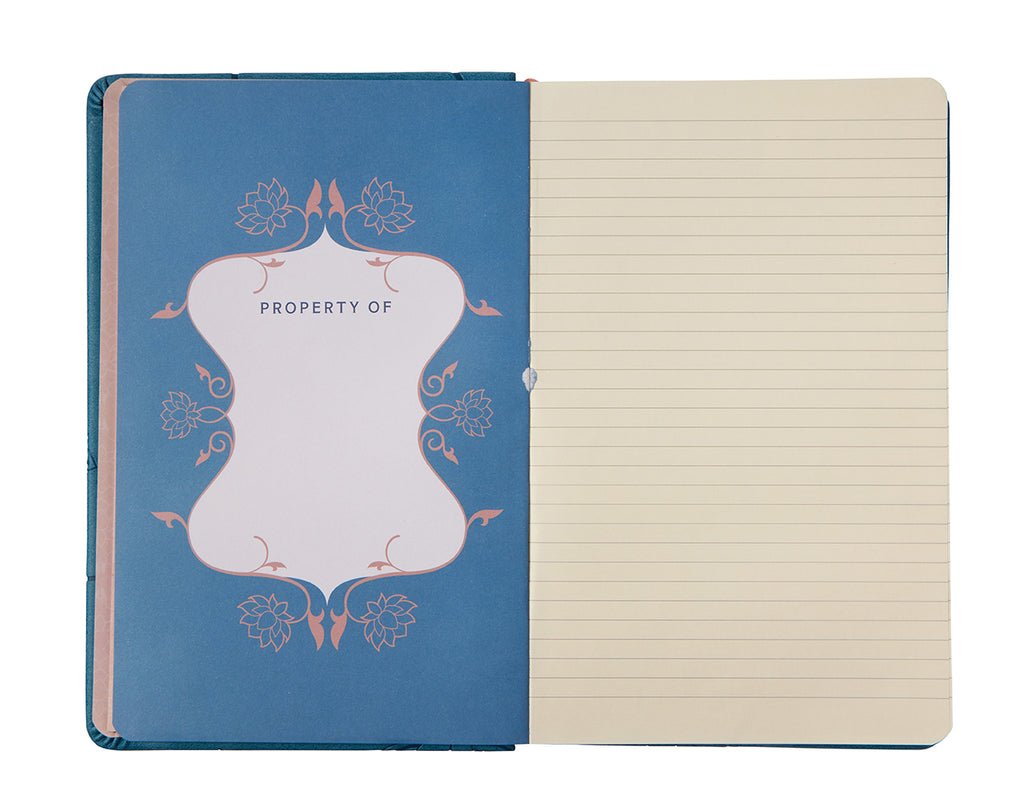 Lotus Hardcover Ruled Journal
