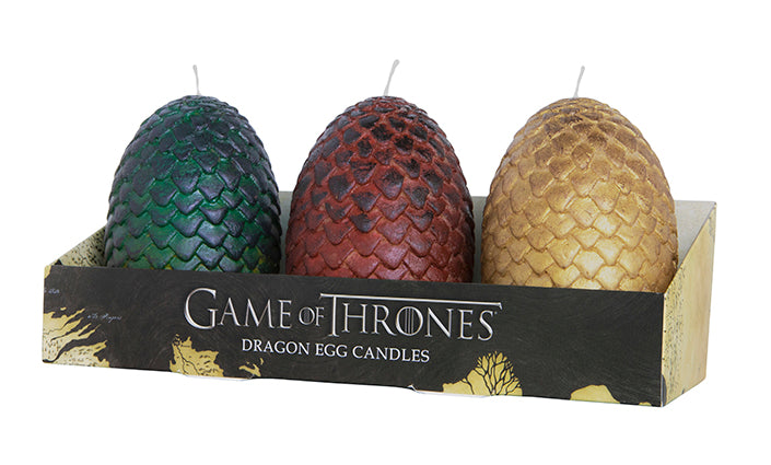 Game of Thrones: Sculpted Dragon Egg Candles (Set of 3)
