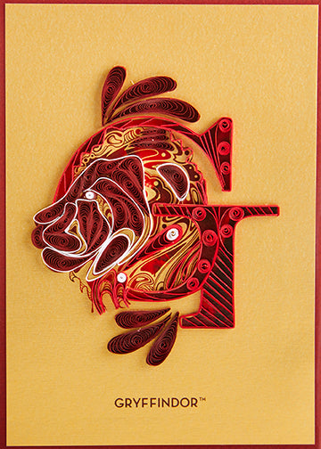 Harry Potter: Gryffindor Quilled Card