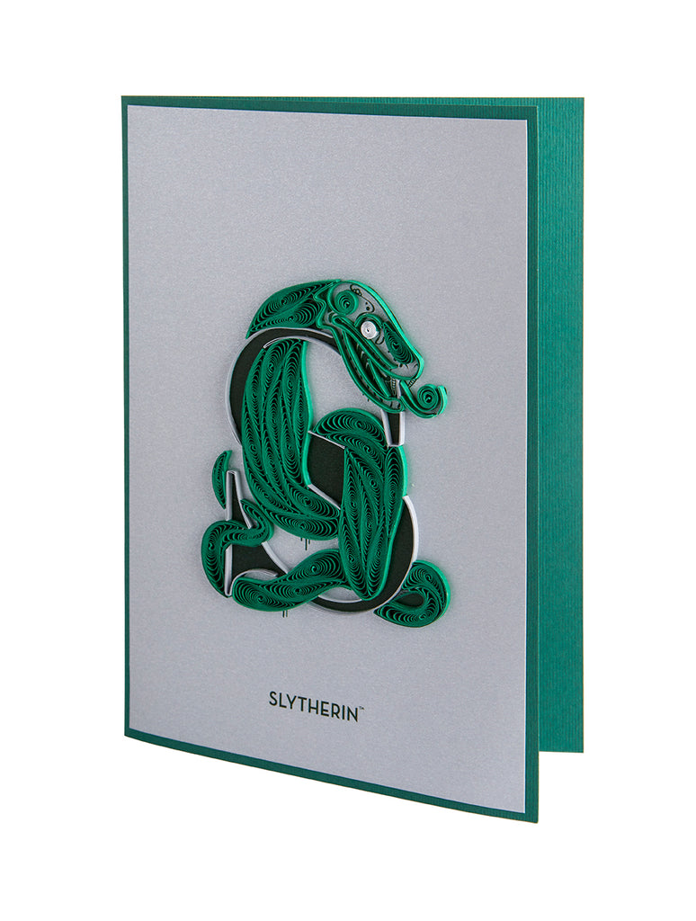 Harry Potter: Slytherin Quilled Card