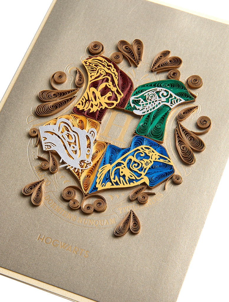 Harry Potter: Hogwarts Quilled Card