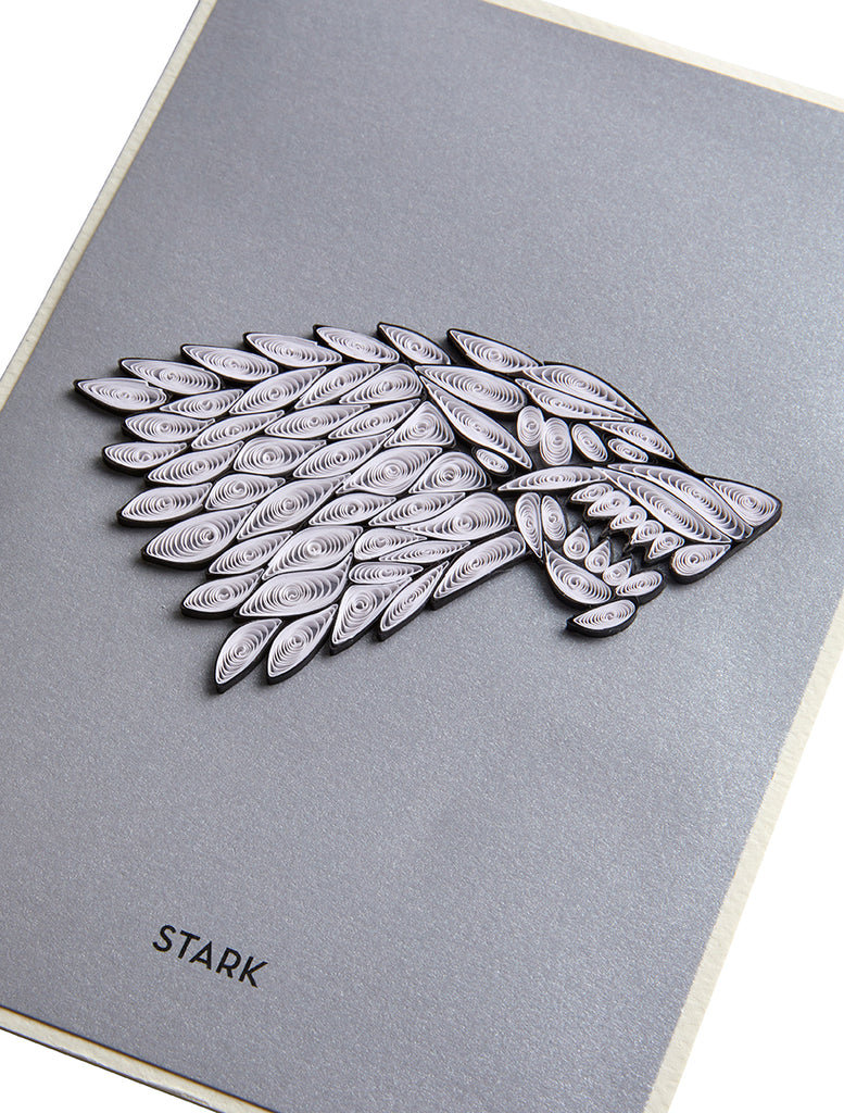 Game of Thrones: House Stark Sigil Quilled Card