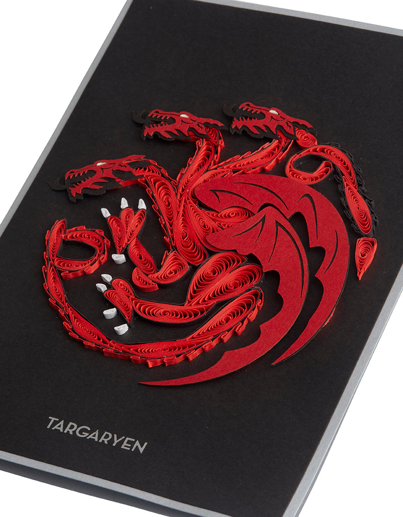 Game of Thrones: House Targaryen Sigil Quilled Card