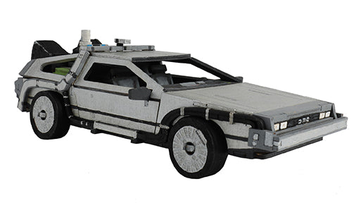 IncrediBuilds: Back to the Future: DeLorean Book and 3D Wood Model