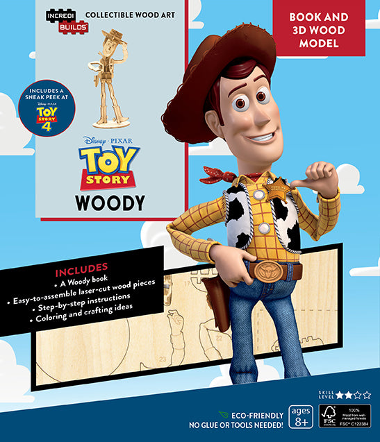 IncrediBuilds: Toy Story: Woody Book and 3D Wood Model