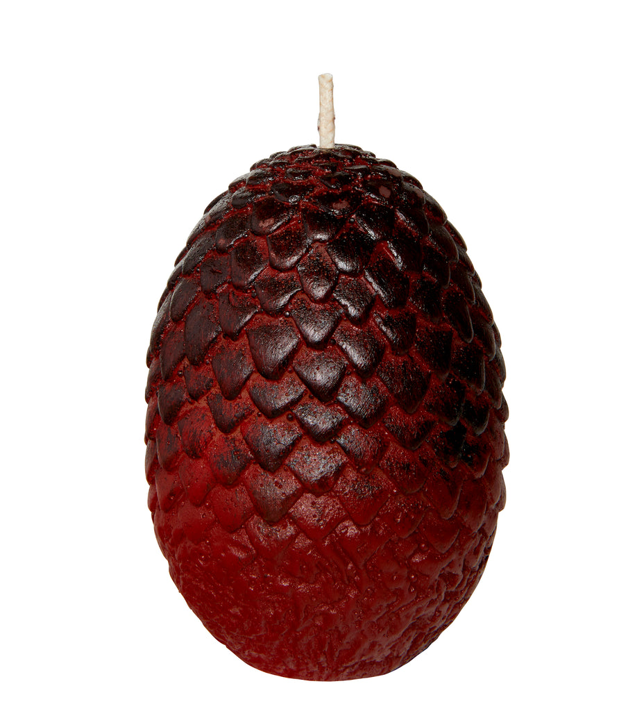 Game of Thrones: Sculpted Dragon Egg Candle [Red]