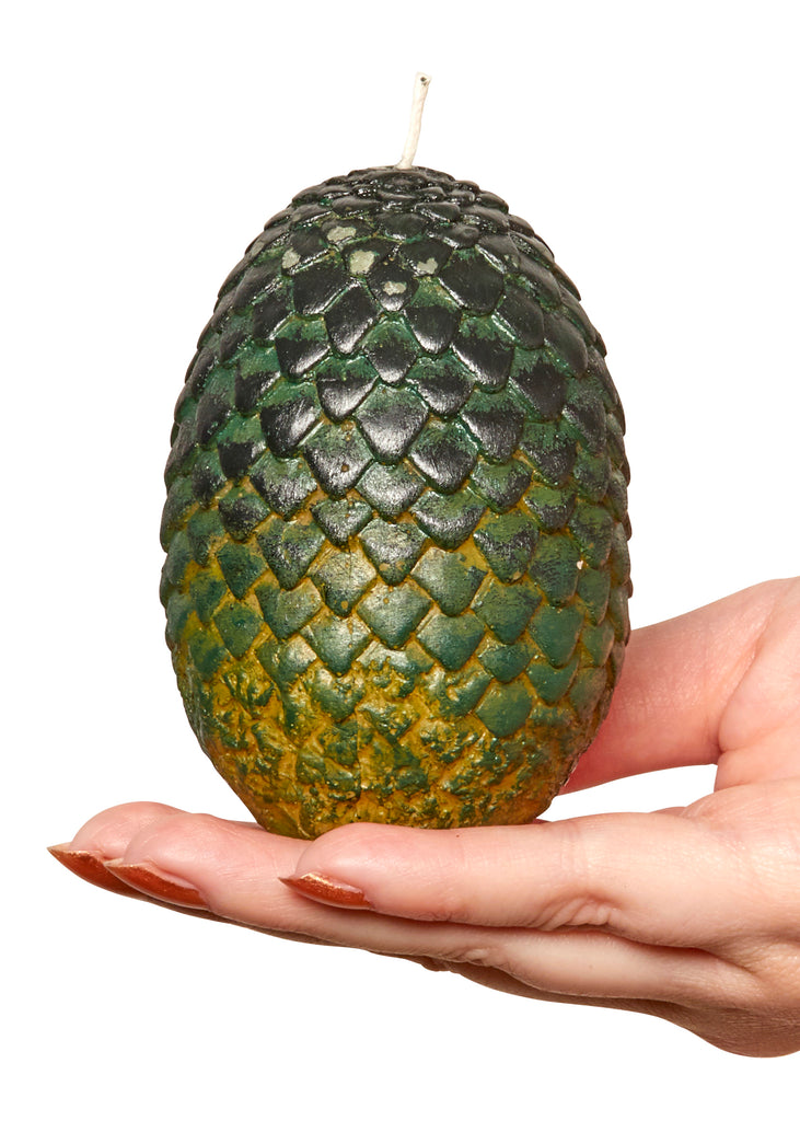 Game of Thrones: Sculpted Dragon Egg Candle (Green)