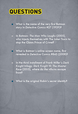 DC Comics: Batman Pop Quiz Trivia Deck