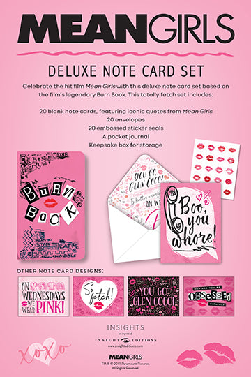 Mean Girls: The Burn Book Deluxe Note Card Set (with Keepsake Book Box)
