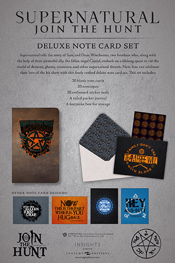 Supernatural Deluxe Note Card Set (With Keepsake Box)