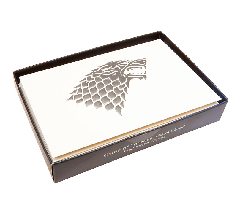 Game of Thrones: House Sigil Foil Note Cards
