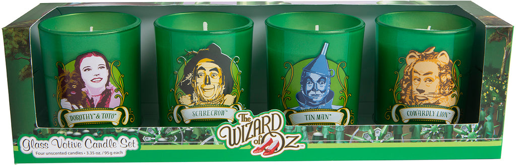 The Wizard of Oz Glass Votive Candle Set