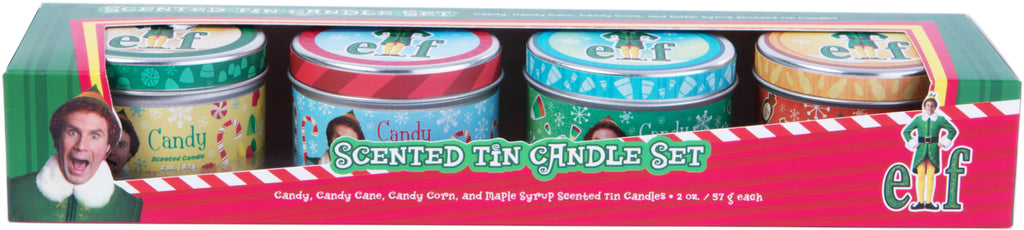Elf Scented Tin Candle Set (Set of 4)