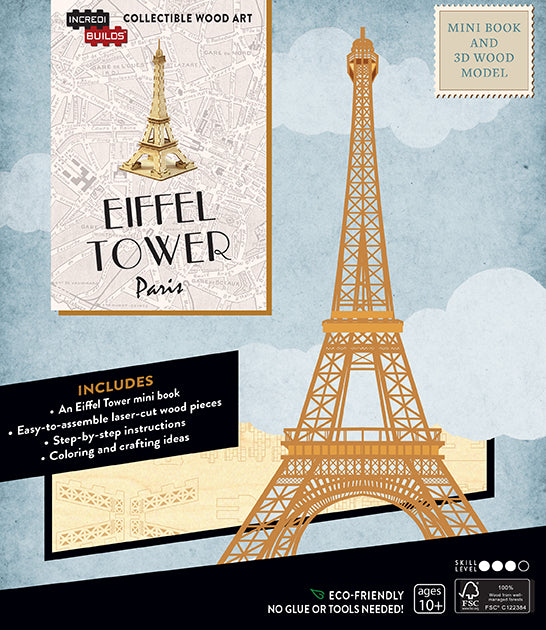 IncrediBuilds: Paris: Eiffel Tower Book and 3D Wood Model