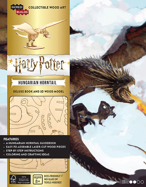 IncrediBuilds: Harry Potter: Hungarian Horntail Deluxe Book and 3D Wood Model Set