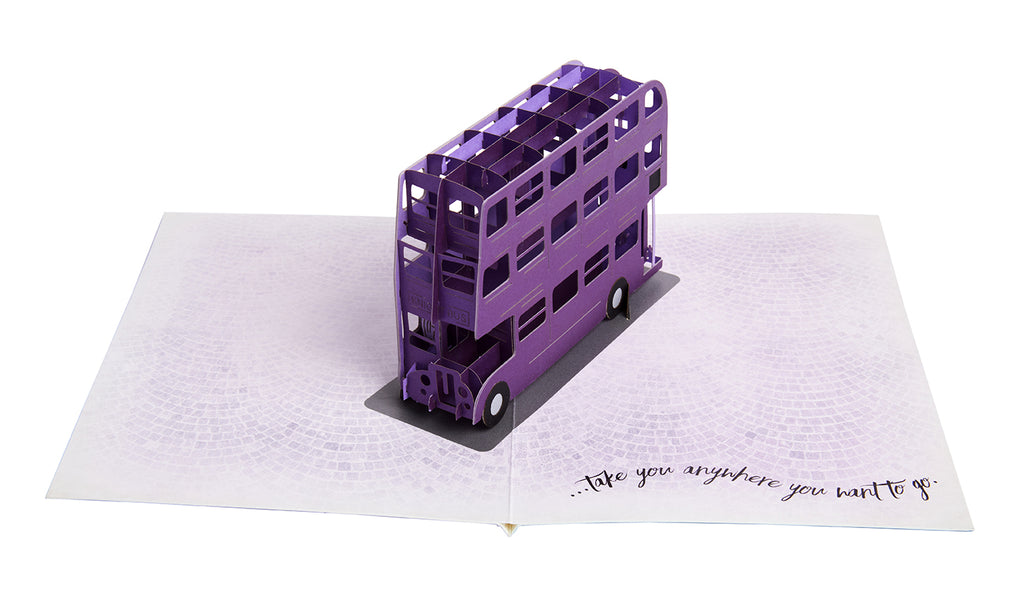Harry Potter: Knight Bus Birthday Signature Pop-Up Card