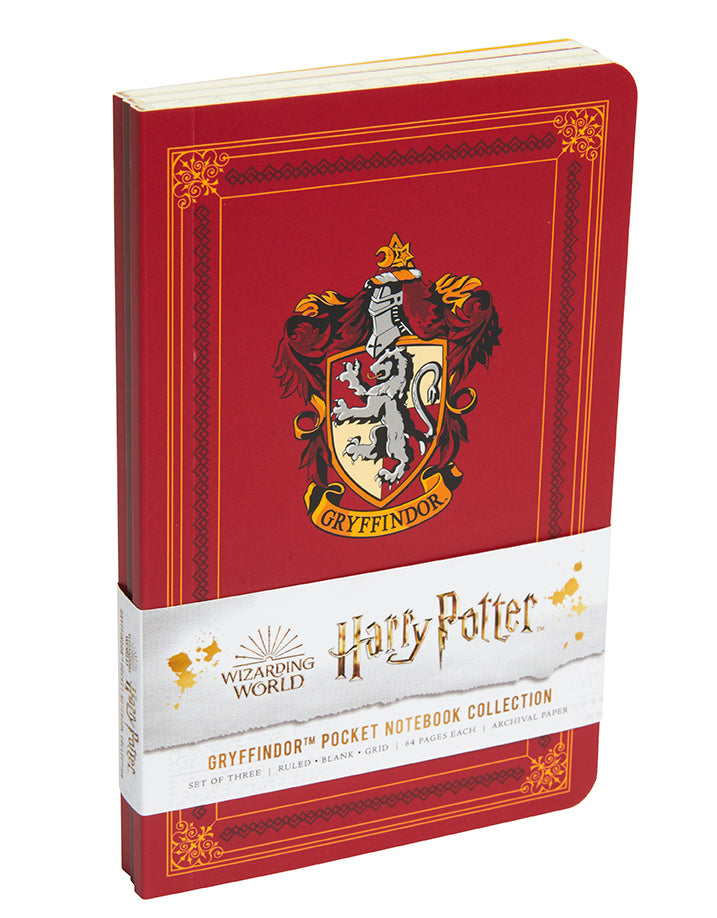 Harry Potter: Gryffindor Pocket Notebook Collection (Set of 3)