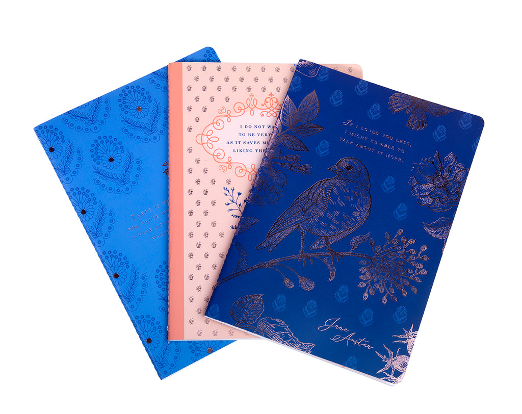 Jane Austen Sewn Notebook Collection (Set of 3)