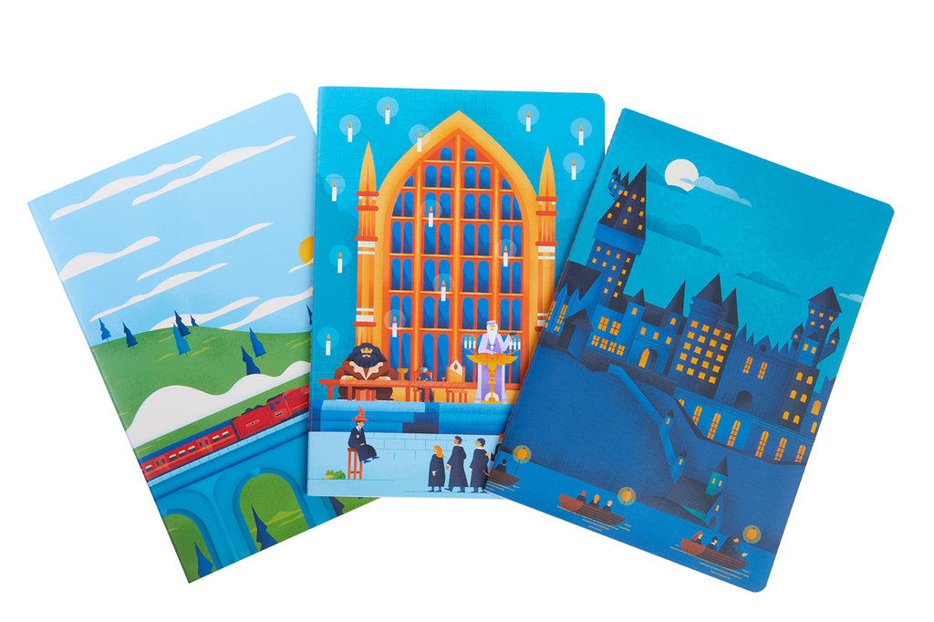 Harry Potter: Exploring Hogwarts™  Sewn Notebook Collection (Set of 3)